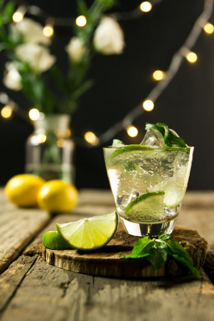 utilizar hortelã em coquetéis e drinks