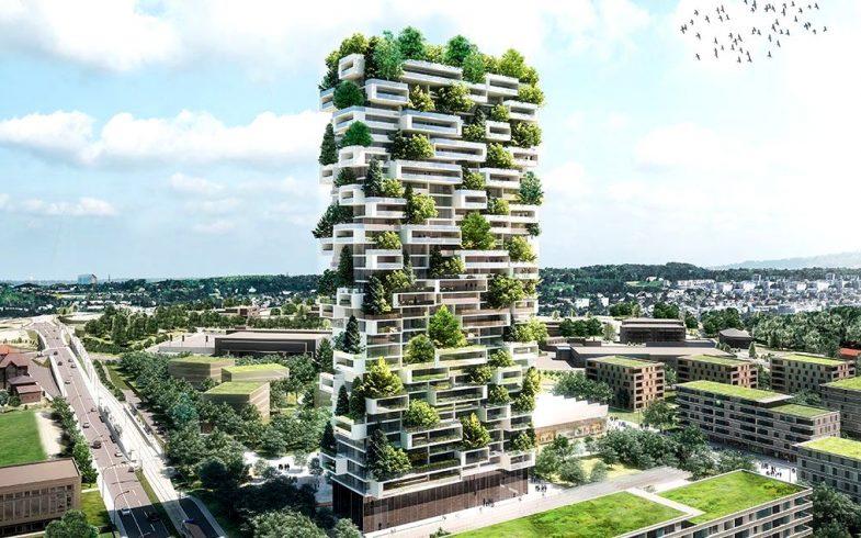 Edifício na Suíça será o primeiro prédio no mundo coberto por árvores