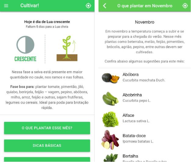 aplicativos para plantio